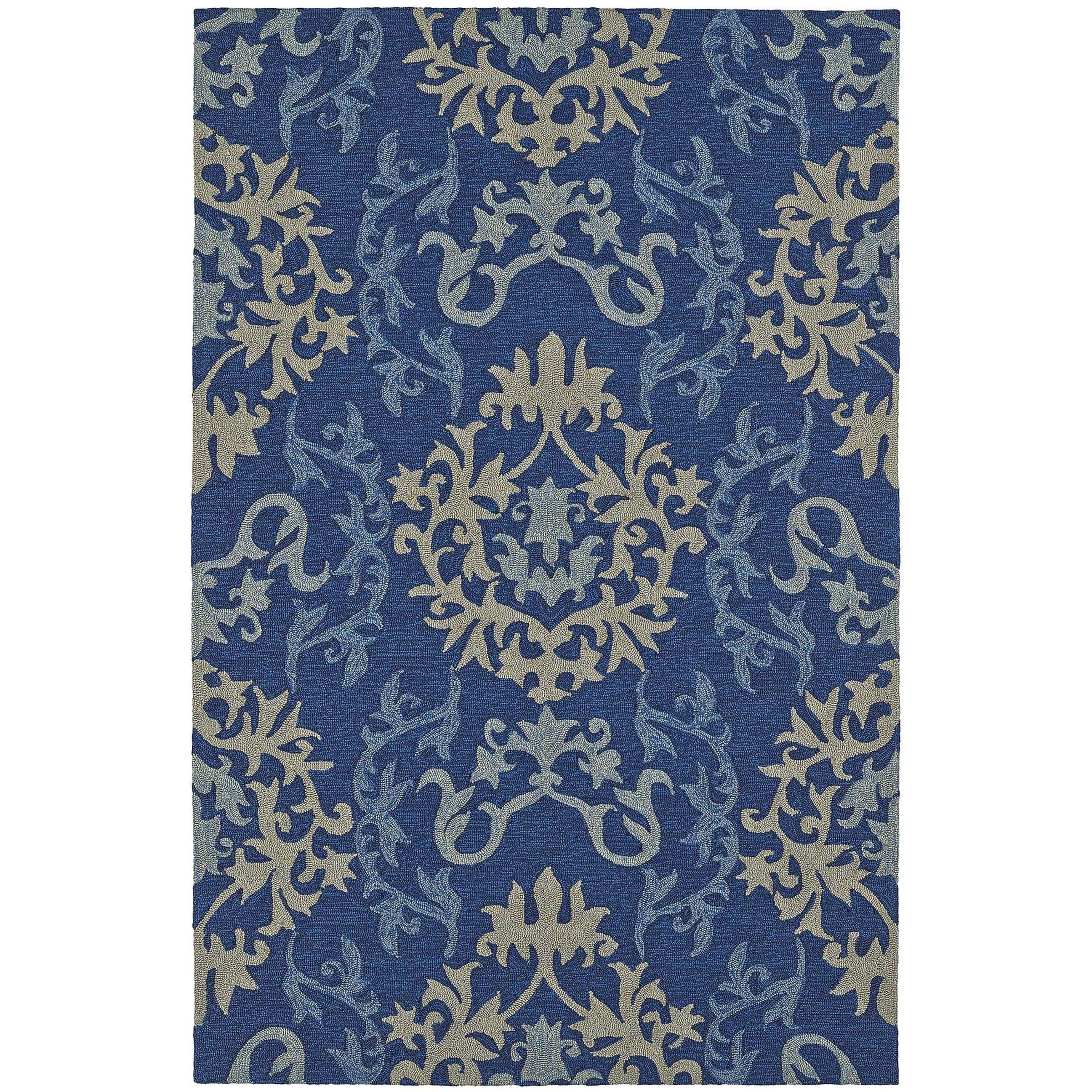 addison rugs addison venice blue damask indoor outdoor. Black Bedroom Furniture Sets. Home Design Ideas