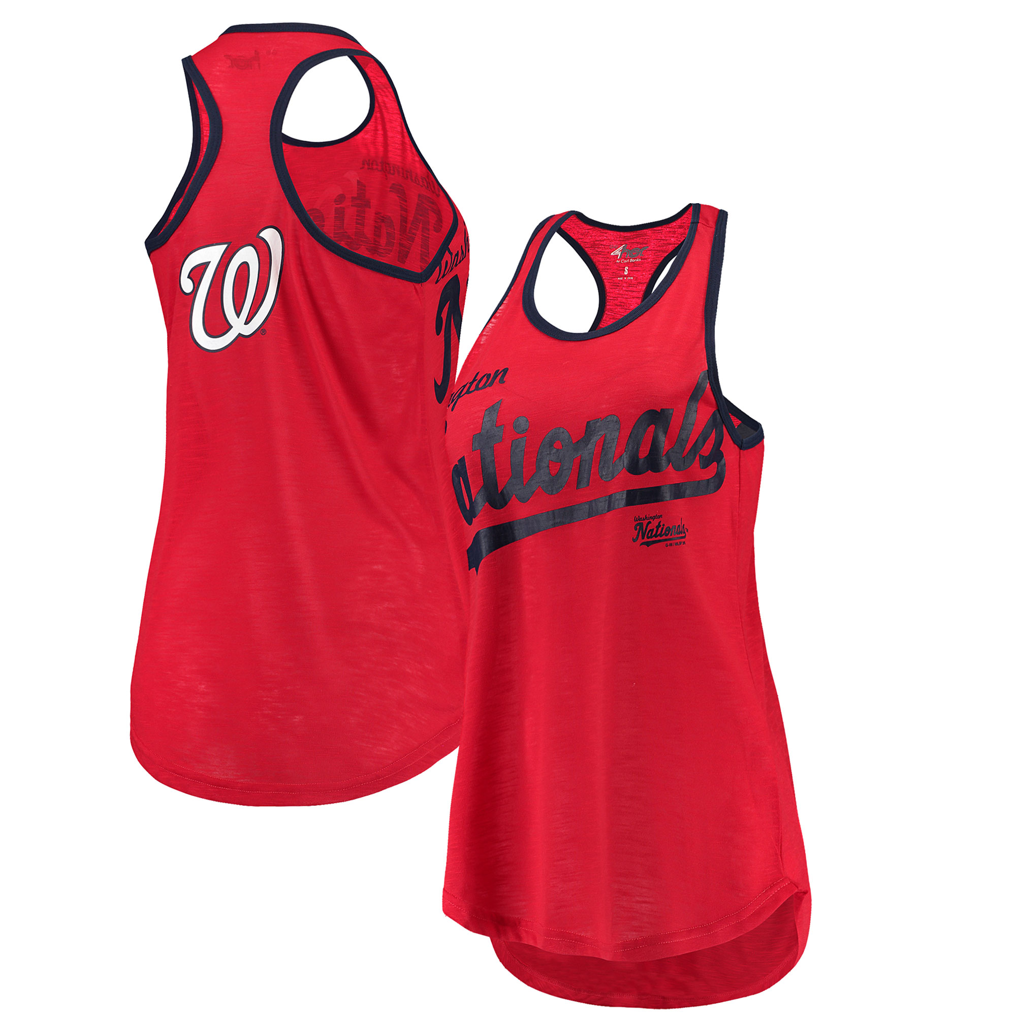Washington Nationals G-III 4Her by Carl Banks Women's Game Time Tank Top - Red/Navy