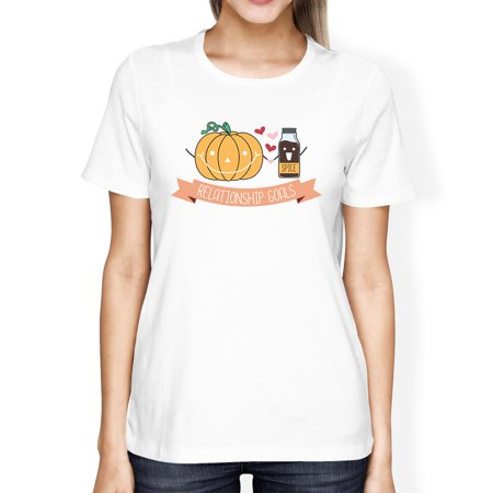 Relationship Goals Womens White Halloween Costume Tee For Couples - Costumes For Couple