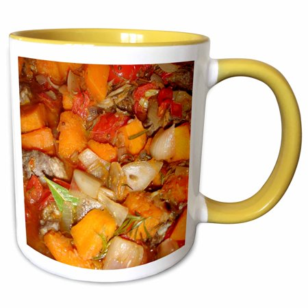 3dRose Morrocan Tagine - moroccan, moroccan stew, food, hot food, casserole, recipe, main course - Two Tone Yellow Mug, - Halloween Main Course Ideas