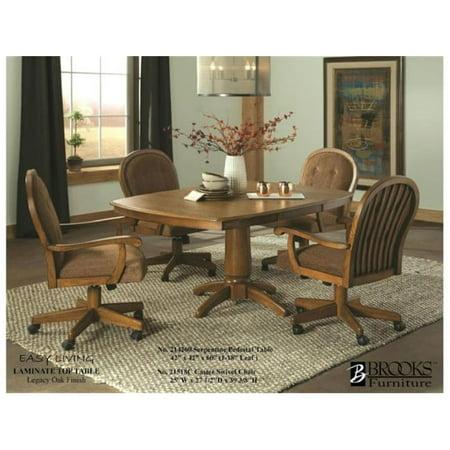 Brooks Furniture 21518c Dining Room Caster Swivel Chair 44 Legacy Oak 14 675 X