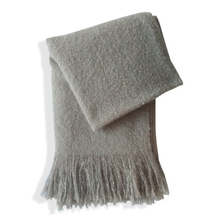 Style Quarters Super Soft Heather Throw Blanket With Fringe 50 X 60 Light Brown 100 Polyester Machine Wash