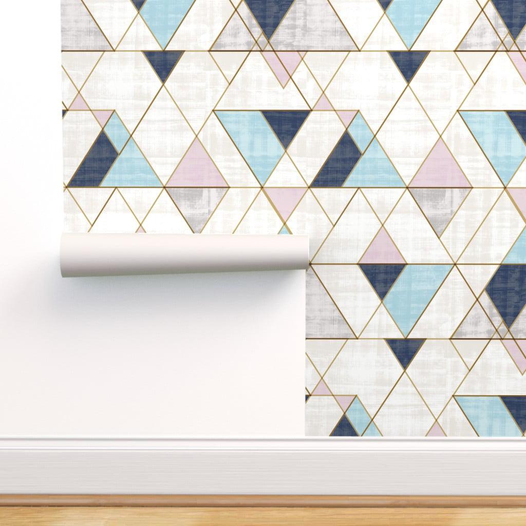 Peel And Stick Removable Wallpaper Triangles Modern Boho Geometric