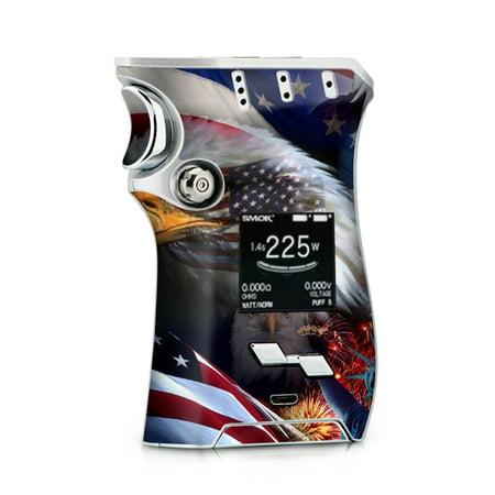 Skins Decals for Smok Mag + TFV12 Prince tank Vape / USA Bald Eagle in Flag