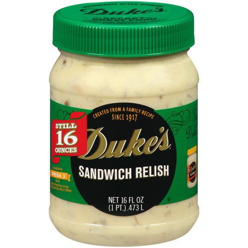 Duke's Sandwich Relish, 16 fl oz by C.F. SAUER COMPANY