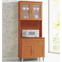 Hodedah Kitchen Cabinet in Cherry