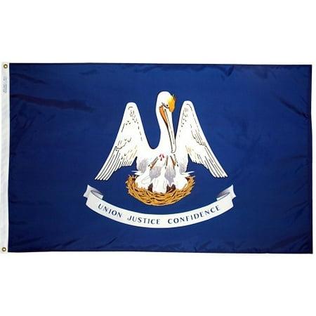 3x5' Louisiana Heavy Weight Nylon Flag From All Star Flags