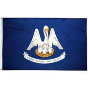 3x5' Louisiana Heavy Weight Nylon Flag From All Star Flags