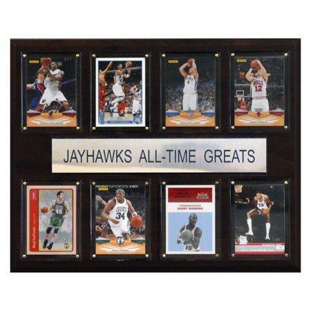 1988 Kansas Jayhawks Basketball - C&I Collectables NCAA Basketball 12x15 Kansas Jayhawks All-Time Greats Plaque