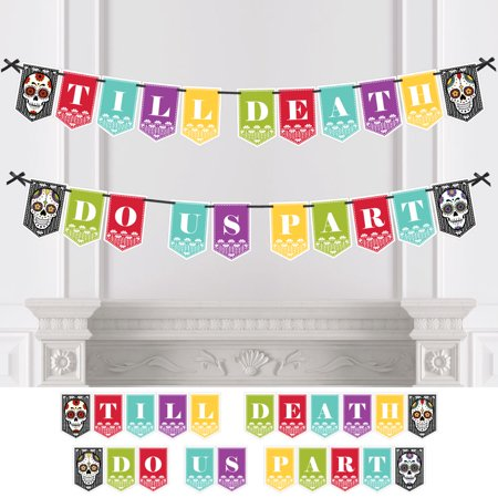 Day Of The Dead Wedding Party Bunting Banner Sugar Skull Wedding