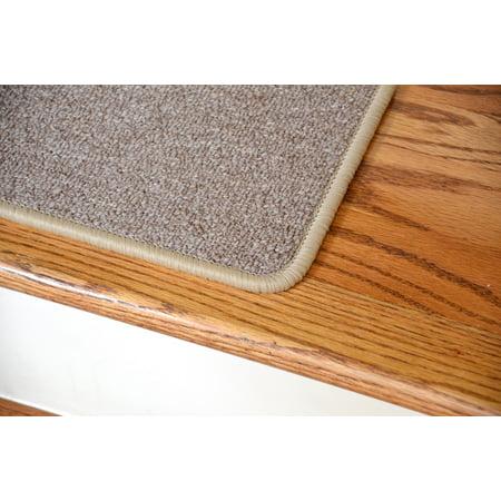 Dean Serged Diy Carpet Stair Treads 27 X 9 Beige Suede Set Of 13