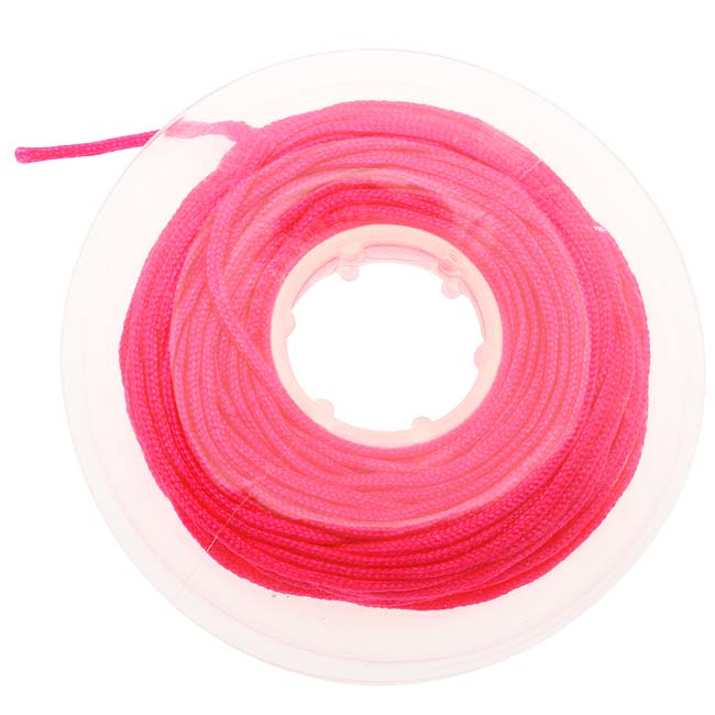 Chinese Knotting Cord 1.2mm Thick - Neon Pink (10 Yards / 9.14 Meters)