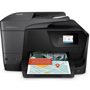 HP OfficeJet Pro 8715 All-in-One All-in-One Touch Screen Bluetooth Wireless Black Printer