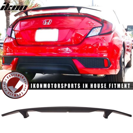 Fits 16-19 Honda Civic Coupe 2Dr Ikon Type A Trunk Spoiler Si Sport Rear - Honda Civic Coupe Spoiler