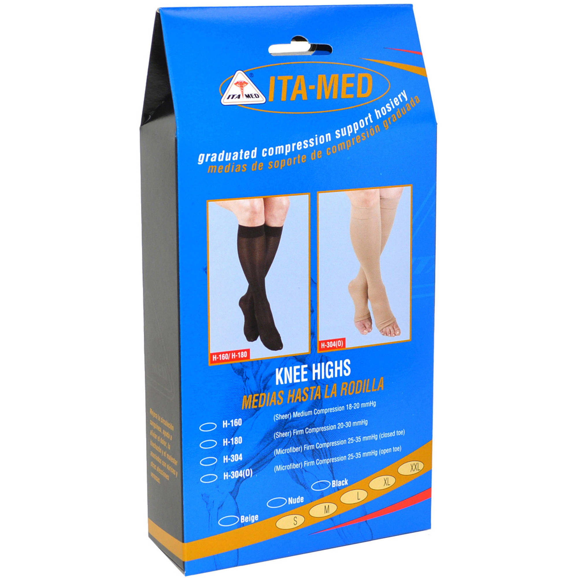 ITA-MED Sheer Knee Highs - Compression (23-30 mmHg): H-180