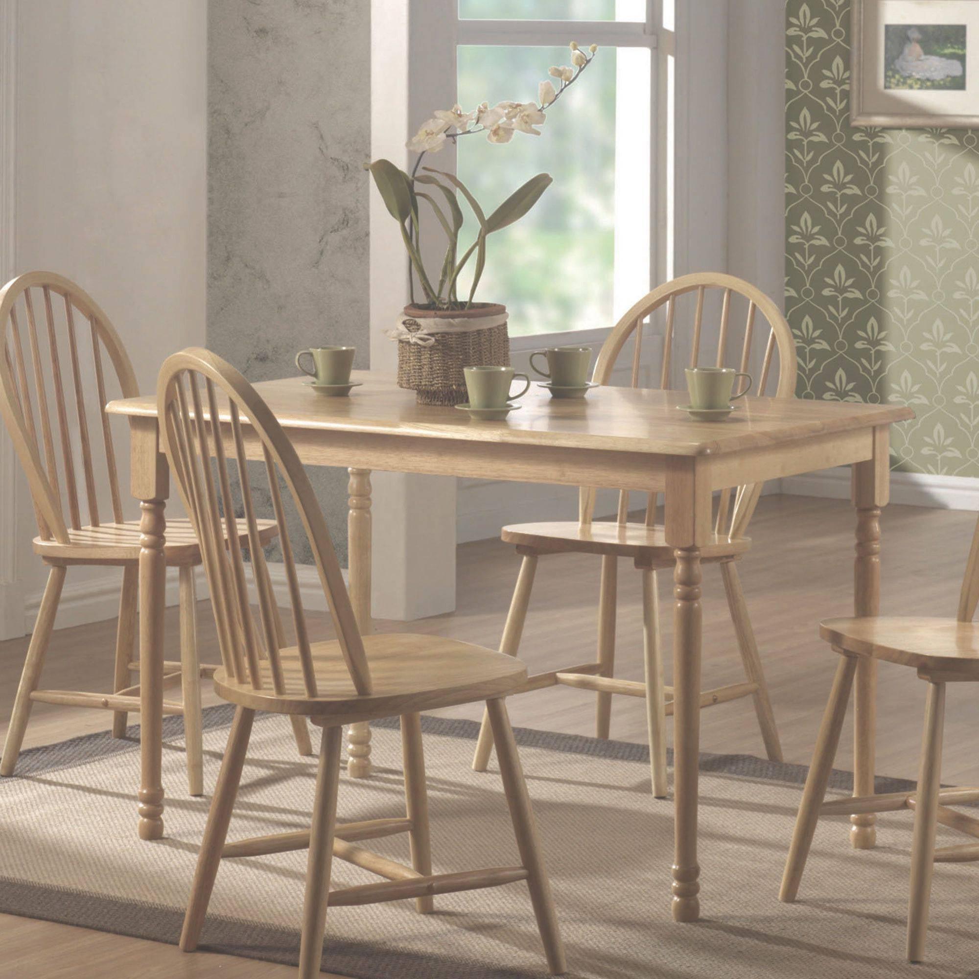 Coaster Damen Rectangle Leg Dining Table in Warm Natural Wood