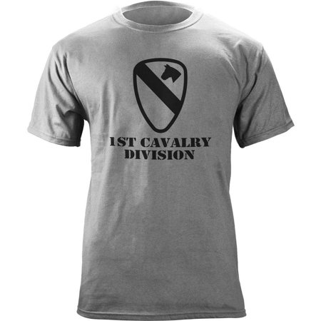 1st Cavalry First Team T-shirt - Army 1st Cavalry Subdued Veteran T-Shirt