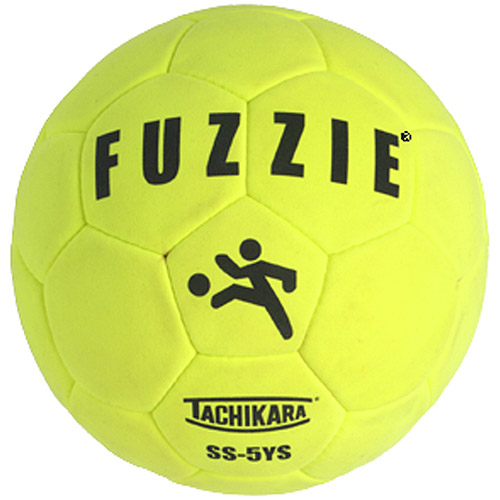 Tachikara Fuzzie Man-Made Suede Indoor Soccer Ball, Size 5, Yellow