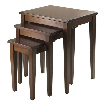Regalia 3-Piece Nesting Table Set, Walnut (French Walnut Side Table)