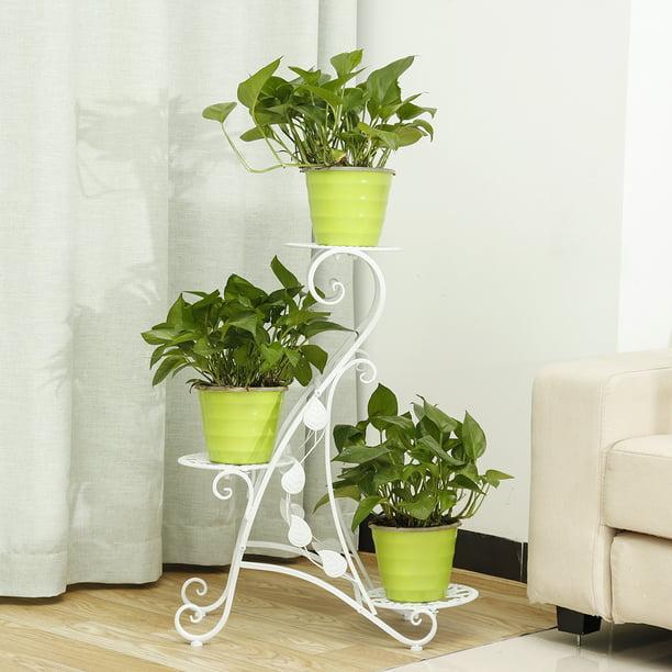 Graceful Unique 3 Tier Design Plant Stand Flower Pot Holder Shelf Rack Garden Patio Balcony Home Walmart Com Walmart Com