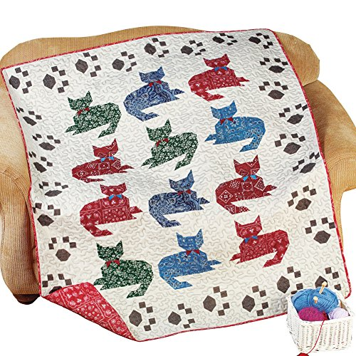 Cat Meow Quilted Throw Blanket Walmart Com