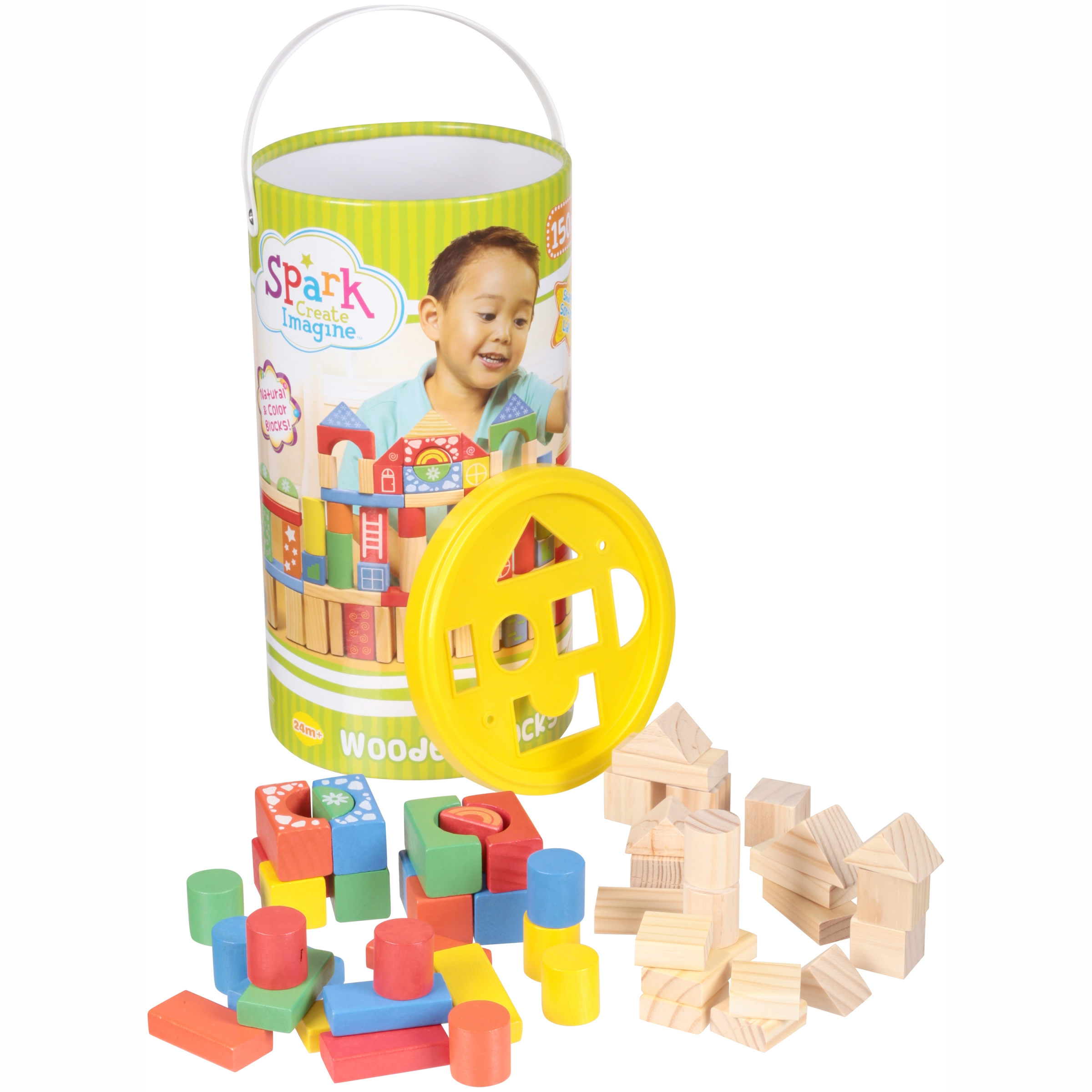 Spark Create Imagine™ Wooden Blocks 150 pc. Canister