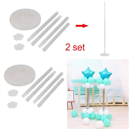 2 Sets 50-inch High DIY Balloon Column Stand Kits for Birthday Decorations, Wedding Decorations, Party Decorations, Christmas Decorations (Column