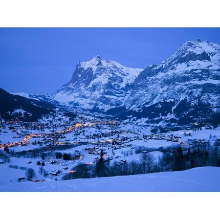 Grindelwald, Wetterhorn, Jungfrau Region, Bernese Oberland, Switzerland Print Wall Art By Gavin (Best Place To Stay In Jungfrau Region)