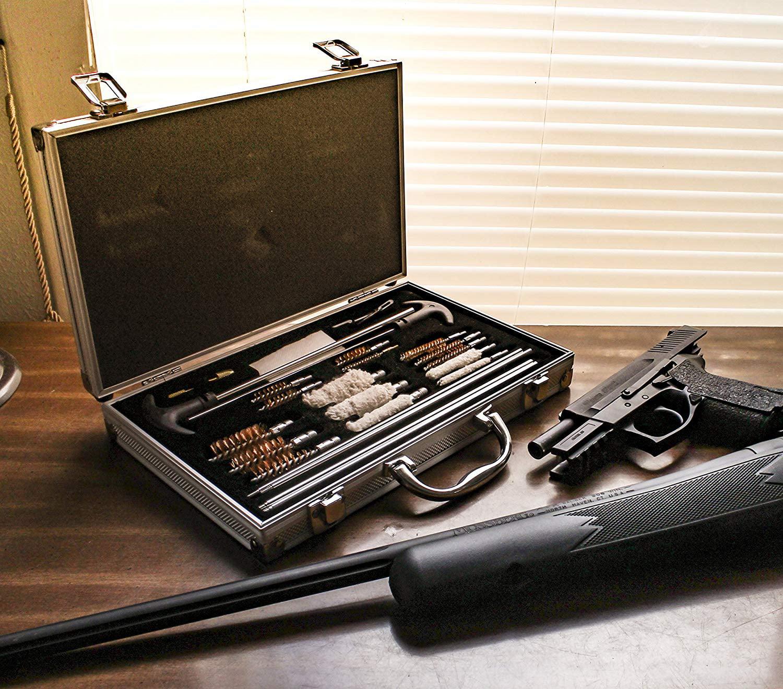 DLX 16 ALUMINUM ATTACHE i PAD EXECUTIVE BRIEF CASE ATTACHE COMPUTER GUN UTILITY