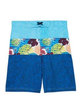 Wonder Nation Quick Dry Swim Trunk (Little Boys & Big Boys)