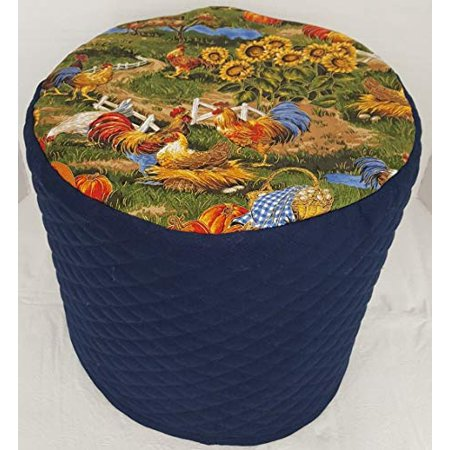 Penny's Needful Things Rooster Slow Cooker Cover (Rooster Navy Blue, 8 (Things To Slow Cook On The Grill)