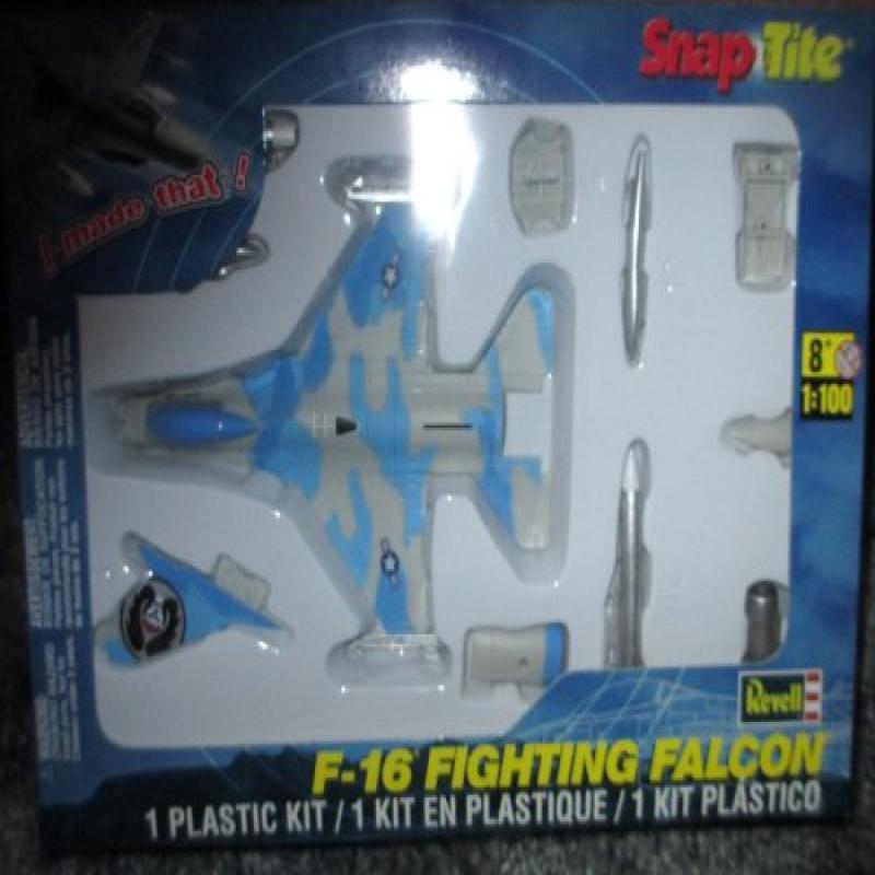 #1389 Revell Snap-Tite F-16 Fighting Falcon 1 100 Scale Plastic Model Kit,Needs Assembly by