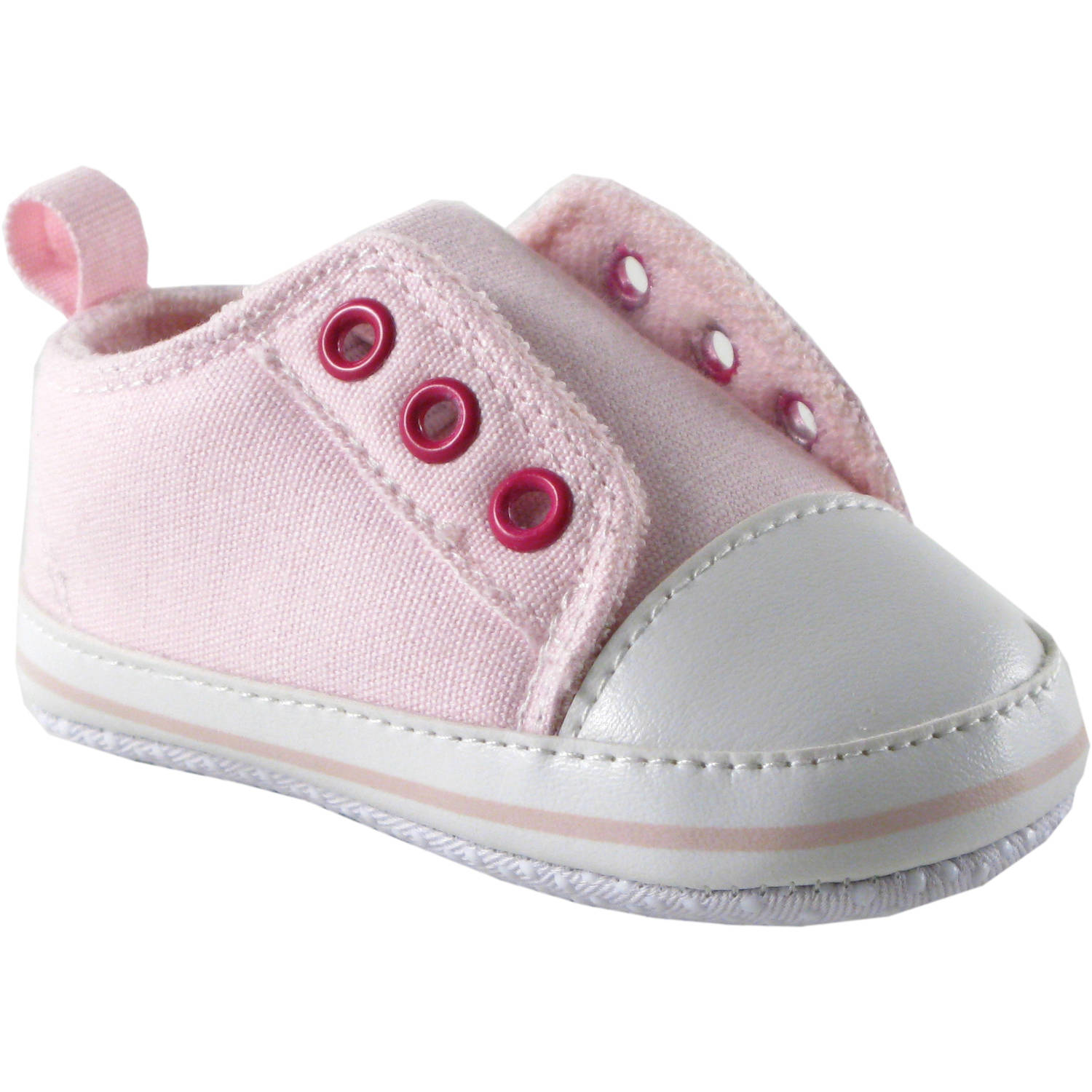 Luvable Friends Newborn Baby Girls Laceless Sneakers