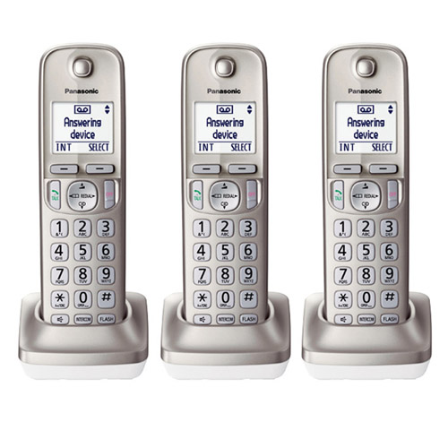 Panasonic KX-TGDA20N DECT 6.0 Plus Additional Digital Cordless Handset 3 Pack