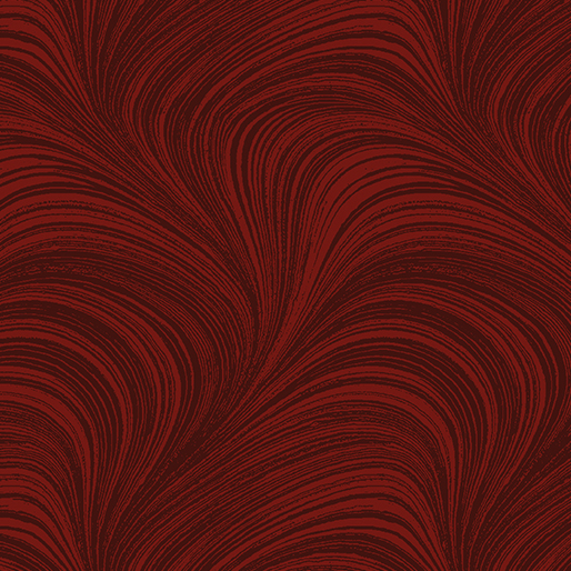 A Festive Season 2~Wave Texture Dark Red, Cotton Fabric by Benartex
