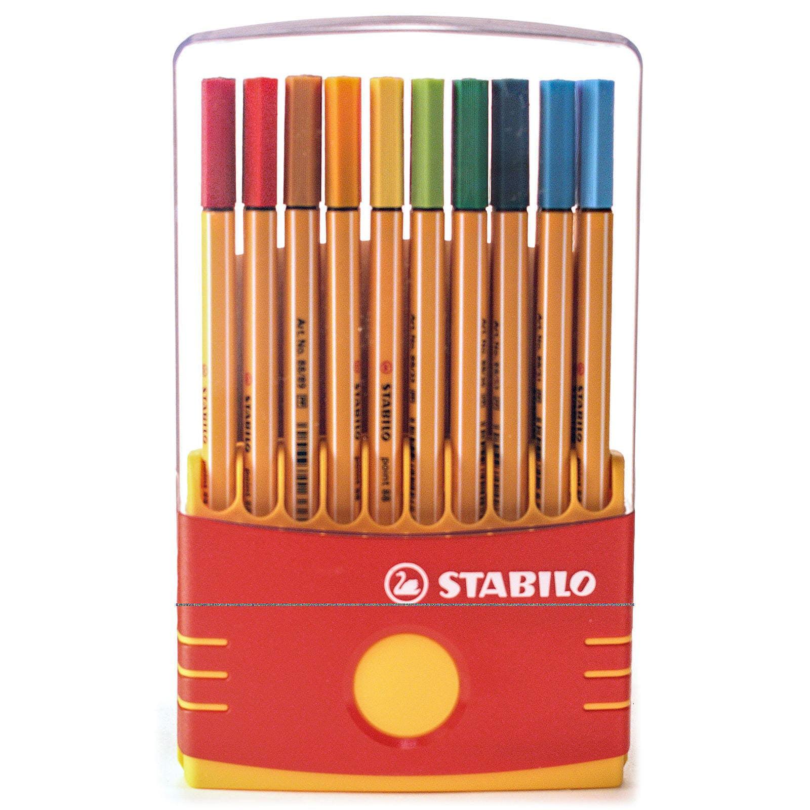 Multicolored Set of 12 Stabilo Point 88 Mini Fineliner Pens