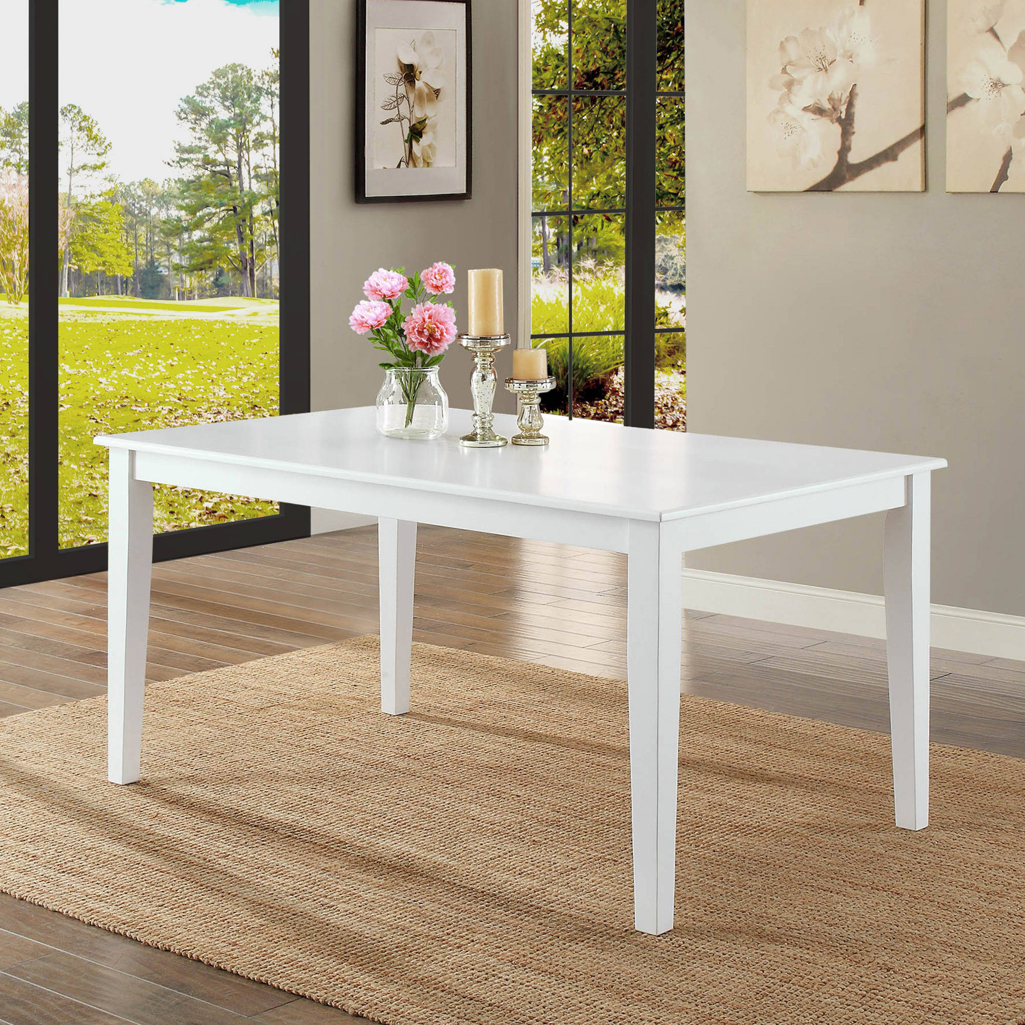 Better Homes and Gardens Bankston Dining Table, White by WHALEN LIMITED