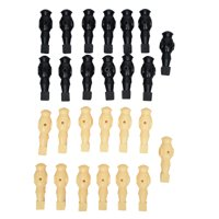 Hathaway Replacement Foosball Men, 1-in W x 4.5-in H, Black/White, set of 22
