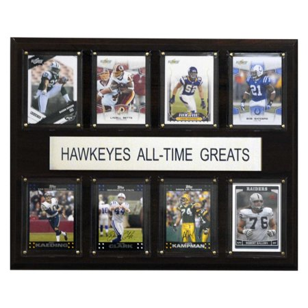 C&I Collectables NCAA Football 12x15 Iowa Hawkeyes All-Time Greats Plaque