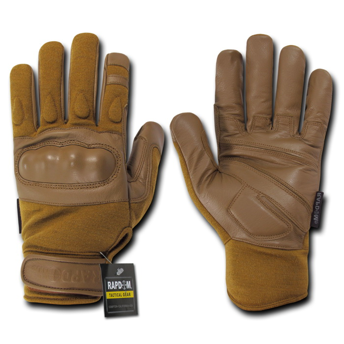 Rapid Dominance T40 - Nomex Knuckle Glove-Coyote-S