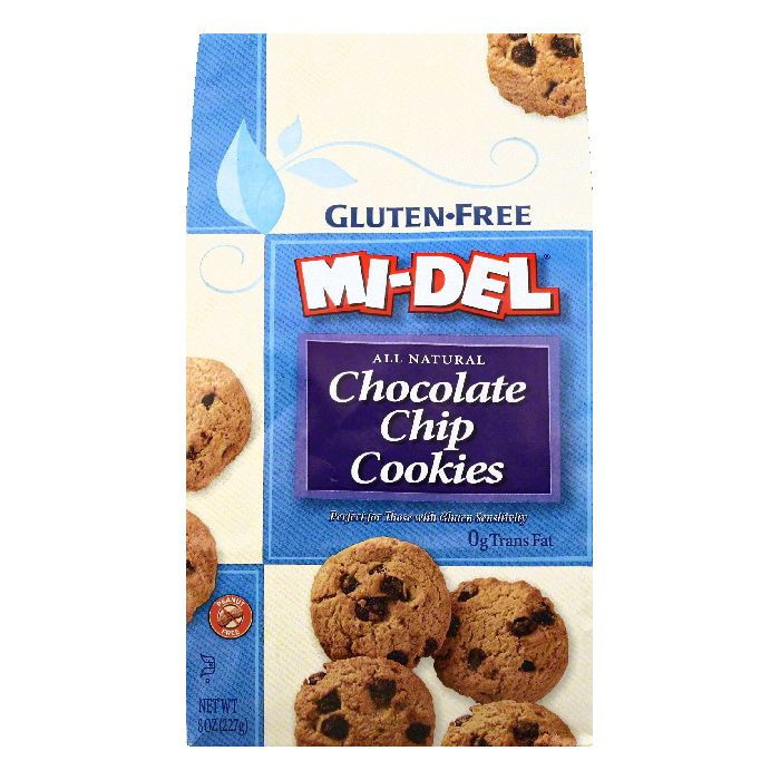 ***Discontinued***Midel Mini Chocolate Chip Cookies Gluten Free 8 Oz - -Pack of 12