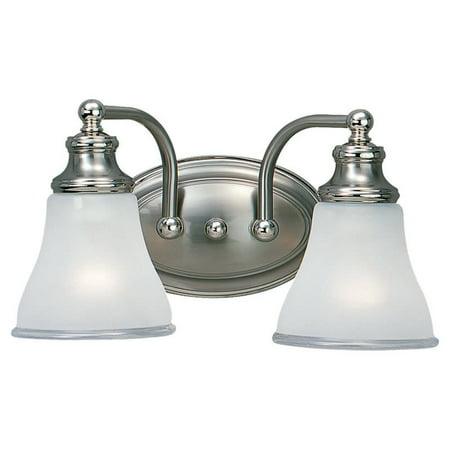 Two Tone Bath Light (Sea Gull Lighting 40010 Alexandria 2 Light Bathroom Vanity)