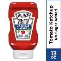 Heinz No Sugar Added Tomato Ketchup, 13 oz Bottle