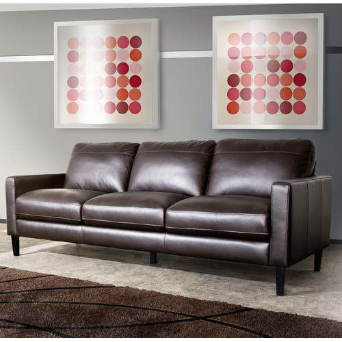 Diamond Sofa Omega Leather Sofa by Diamond Sofa