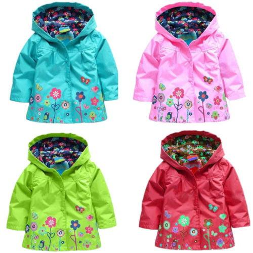SIZE 3 TO 10 BRAND NEW GIRLS PRINCESS RAIN COAT