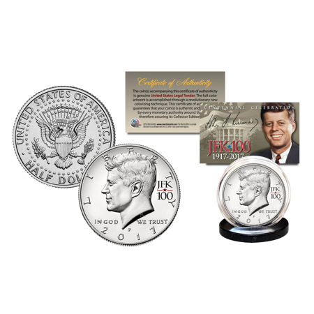 2017 JFK Half Dollar Coin KENNEDY 100th BIRTHDAY JFK 100 PRIVY MARK (P-MINT) (Birthday Coin Set)