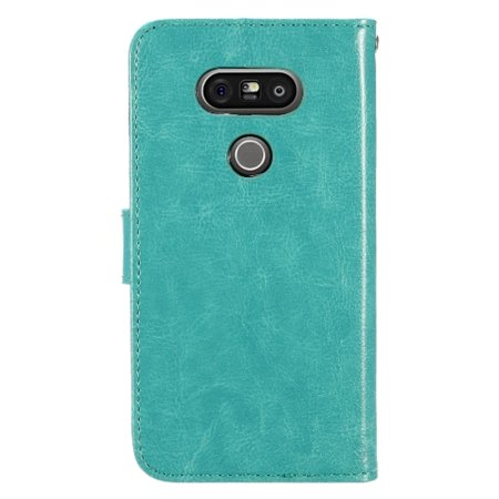 sale retailer edd44 76db5 LG G5 Case, by Insten Folio Flip Leather [Card Slot] Wallet Flap Pouch Case  Cover For LG G5, Mint Green