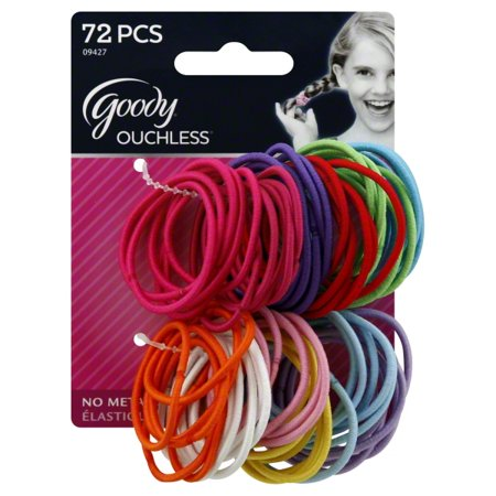 (2 Pack) Goody Ouchless Colors Large Hair -