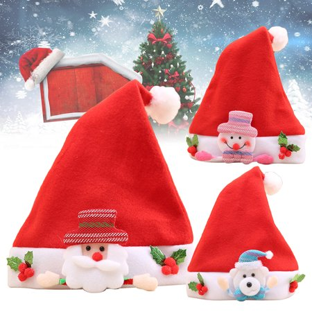 Obstce Lovely Christmas Snowman Elk Santa Claus Bear Hat Kids Xmas Party Decor Gift (Party City In Elk Grove)