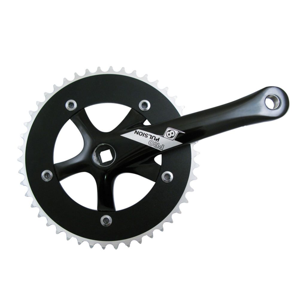 Origin8 Crankset P/P Stainless 165X46 Sq Black